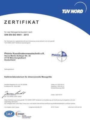 Phönix Zertifikat